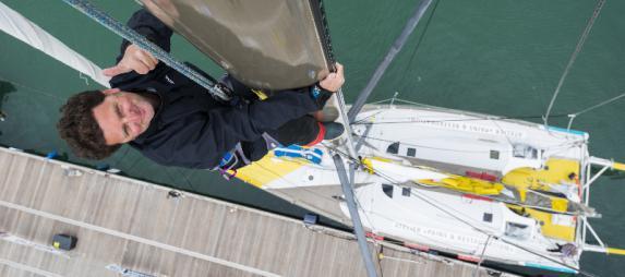 Escale à Nantes du bateau La mie câline, sponsorisé par le Crédit Agricole