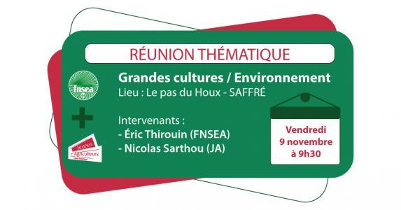Environnement, grandes cultures : rendez-vous vendredi 9 novembre à Saffré pour échanger