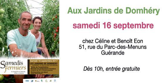 Les Samedis fermiers aux Jardins de Domhéry à Guérande
