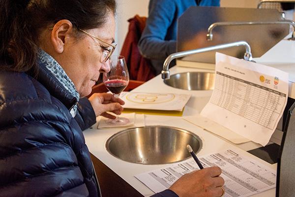 Catherine Motheron, présidente du syndicat des vins IGP du Val de Loire, participe au concours.