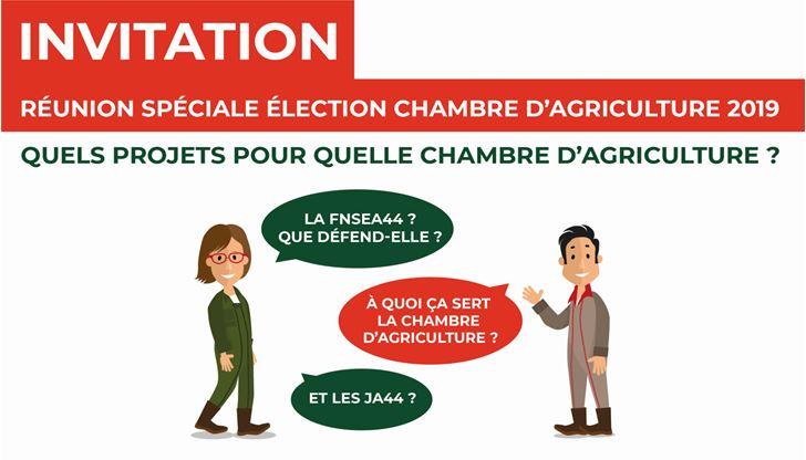 Réunion élection chambre d'agriculture à CHATEAUBRIANT
